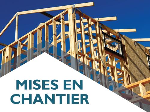 Hausse de la tendance de mise en chantier d'habitations en juillet