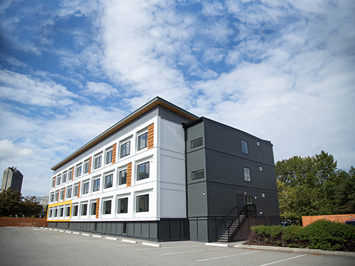 A similar modular housing project in Vancouver, British Columbia